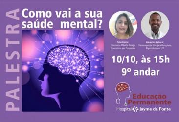 Palestra - Como vai a sua saúde mental?